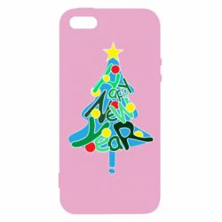 Чохол для iphone 5/5S/SE Happy new year on the tree