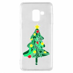 Чохол для Samsung A8 2018 Happy new year on the tree