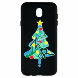 Чохол для Samsung J7 2017 Happy new year on the tree
