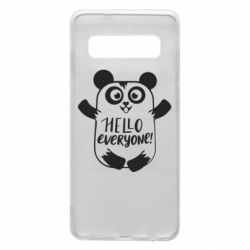 Чехол для Samsung S10 Happy panda