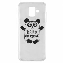 Чехол для Samsung A6 2018 Happy panda