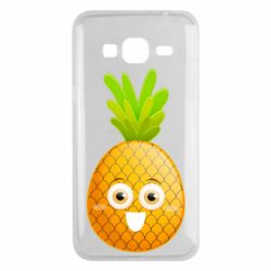 Чехол для Samsung J3 2016 Happy pineapple