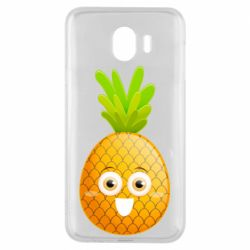 Чехол для Samsung J4 Happy pineapple