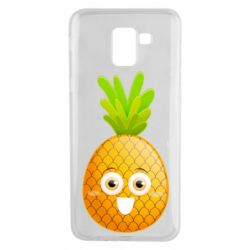 Чехол для Samsung J6 Happy pineapple