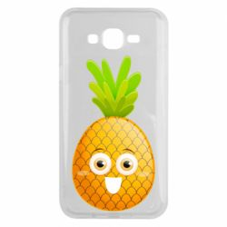 Чехол для Samsung J7 2015 Happy pineapple