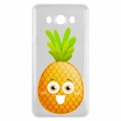 Чехол для Samsung J7 2016 Happy pineapple