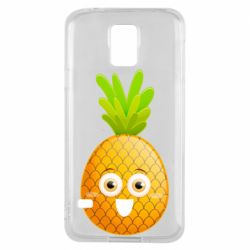 Чехол для Samsung S5 Happy pineapple