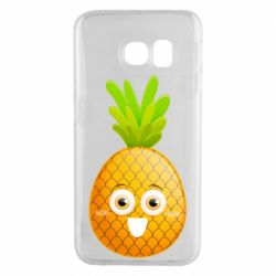 Чехол для Samsung S6 EDGE Happy pineapple