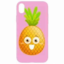 Чехол для iPhone XR Happy pineapple
