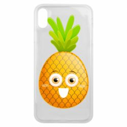 Чехол для iPhone Xs Max Happy pineapple