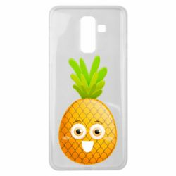 Чехол для Samsung J8 2018 Happy pineapple