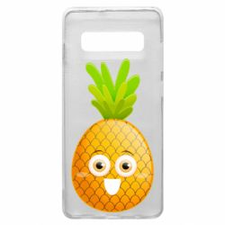 Чехол для Samsung S10+ Happy pineapple