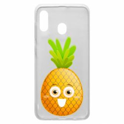 Чехол для Samsung A20 Happy pineapple