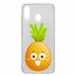 Чехол для Samsung A30 Happy pineapple