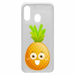 Чехол для Samsung A40 Happy pineapple