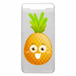 Чехол для Samsung A80 Happy pineapple