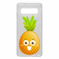 Чехол для Samsung S10 Happy pineapple