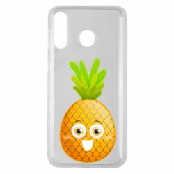 Чехол для Samsung M30 Happy pineapple