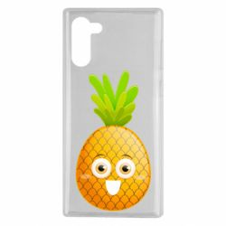 Чехол для Samsung Note 10 Happy pineapple