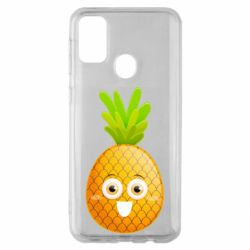 Чехол для Samsung M30s Happy pineapple