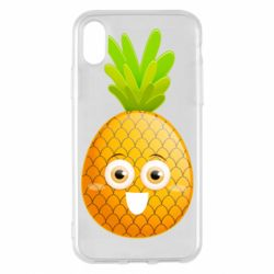 Чехол для iPhone X/Xs Happy pineapple