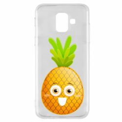 Чехол для Samsung A6 2018 Happy pineapple