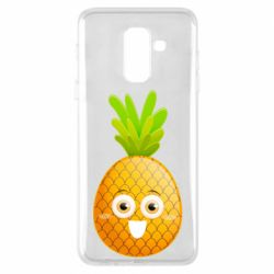 Чехол для Samsung A6+ 2018 Happy pineapple