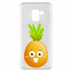 Чехол для Samsung A8 2018 Happy pineapple