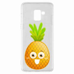 Чехол для Samsung A8+ 2018 Happy pineapple