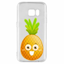 Чехол для Samsung S7 Happy pineapple