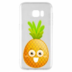 Чехол для Samsung S7 EDGE Happy pineapple