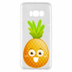 Чехол для Samsung S8 Happy pineapple