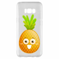 Чехол для Samsung S8+ Happy pineapple