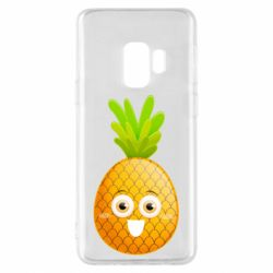 Чехол для Samsung S9 Happy pineapple