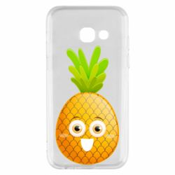 Чехол для Samsung A3 2017 Happy pineapple