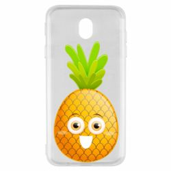 Чехол для Samsung J7 2017 Happy pineapple