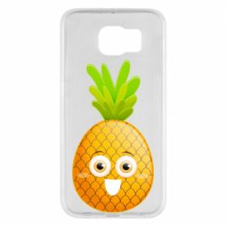 Чехол для Samsung S6 Happy pineapple