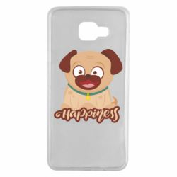 Чехол для Samsung A7 2016 Happy pug