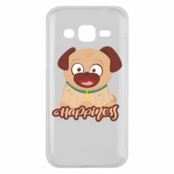 Чехол для Samsung J2 2015 Happy pug