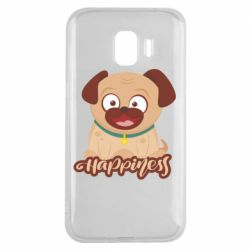 Чехол для Samsung J2 2018 Happy pug
