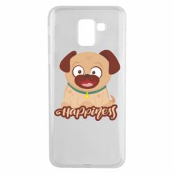 Чехол для Samsung J6 Happy pug