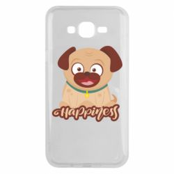 Чехол для Samsung J7 2015 Happy pug