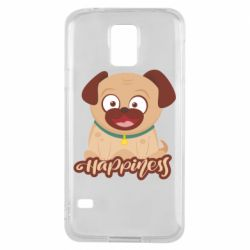 Чехол для Samsung S5 Happy pug