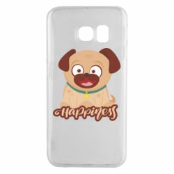 Чехол для Samsung S6 EDGE Happy pug