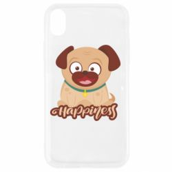 Чехол для iPhone XR Happy pug