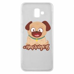 Чехол для Samsung J6 Plus 2018 Happy pug
