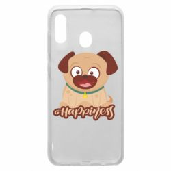 Чехол для Samsung A20 Happy pug