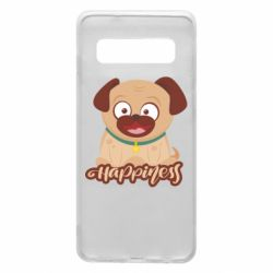 Чехол для Samsung S10 Happy pug