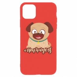 Чехол для iPhone 11 Happy pug