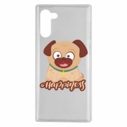 Чехол для Samsung Note 10 Happy pug